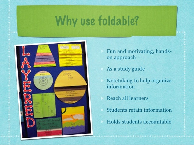 using foldables in the college classroom