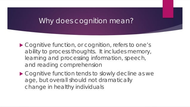 Cognitive what does it mean