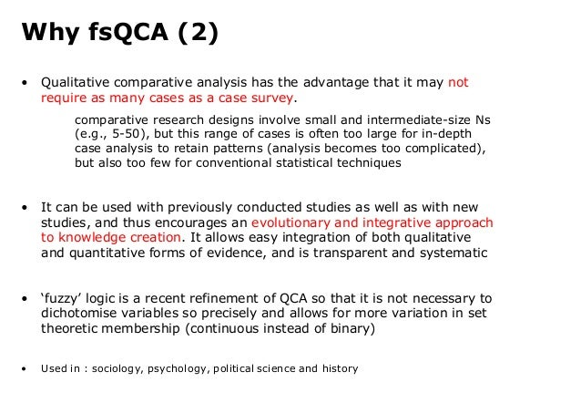 qualitative comparative analysis and case study methods Fuzzy-set qualitative comparative analysis and innovation research – the rise of a method paths get identified based on case study analysis which.