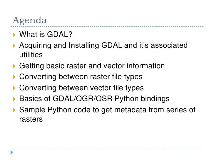 Using GDAL In Your GIS Workflow