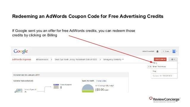Google adwords express coupon code как удалить яндекс директ с браузера