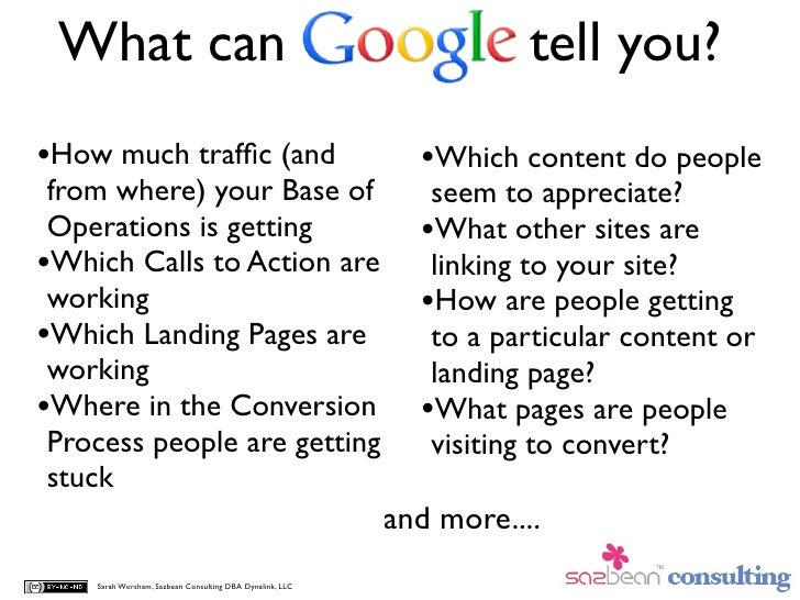 What can                                                            tell you? •How much traffic (and                       ...