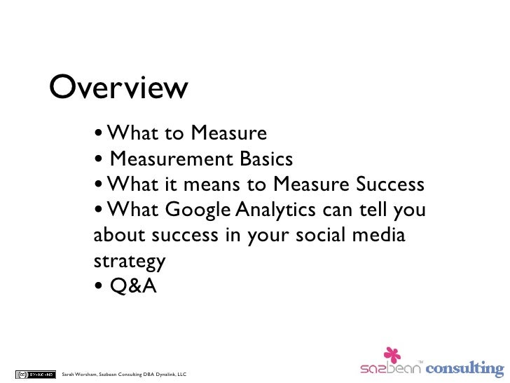 Overview             • What to Measure             • Measurement Basics             • What it means to Measure Success    ...