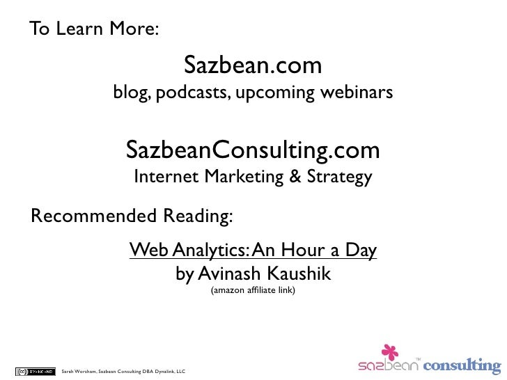 To Learn More:                                                      Sazbean.com                         blog, podcasts, up...