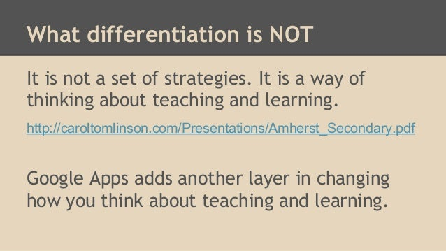 differentiated instruction tomlinson pdf