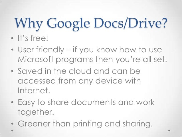 how to start using google docs