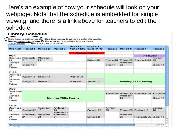 how to create a work schedule in google docs