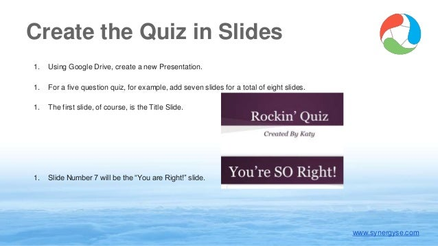 using google slides to create an interactive quiz