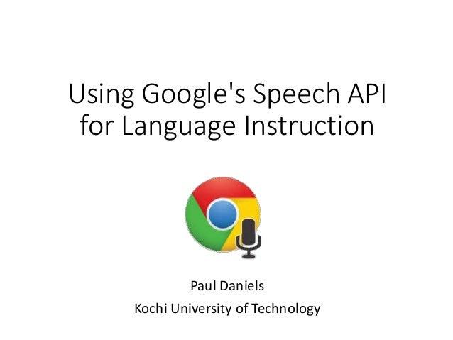 Using Googles Speech Api For Language Instruction