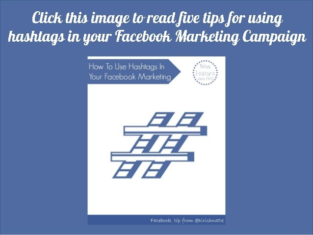 Using hashtags in your Facebook marketing