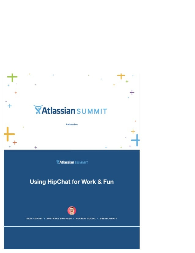 "Atlassian  tathsslan  Using HipChat for Work 8. Fun  fr  SPAN IZONAT"" - SOFTWARE FNGINFF9 HFAFSAYSDCIAI ~ CSFIANCCNIAYV"