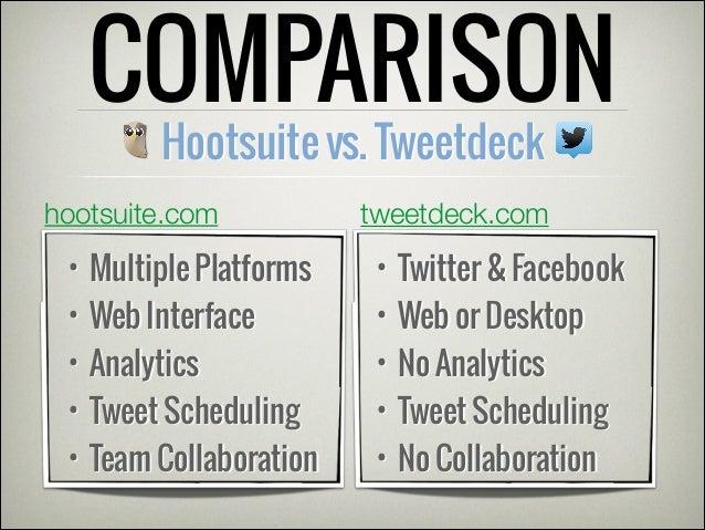 Using Hootsuite or Tweetdeck