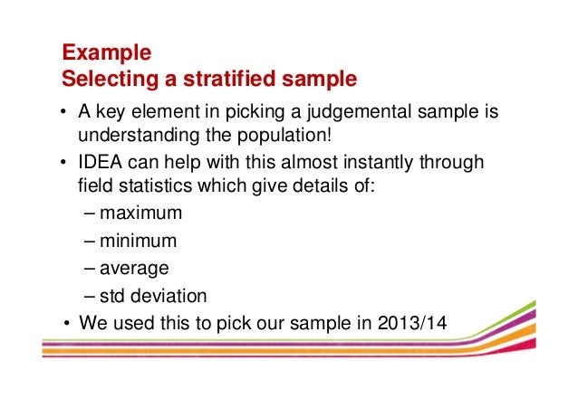 Using Idea To Create A Sampling Methodology