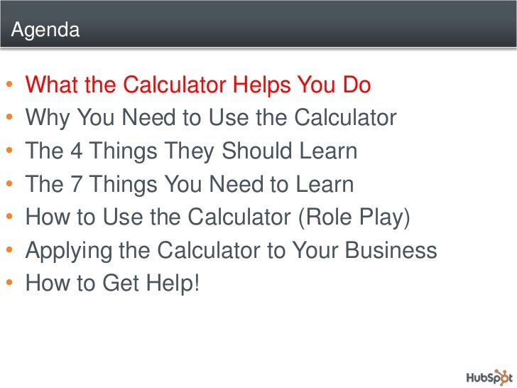 How to Use the Inbound Marketing Calculator to Secure Retainers Slide 3