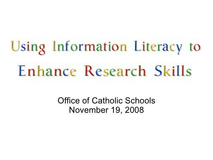 <ul><li>Office of Catholic Schools </li></ul><ul><li>November 19, 2008 </li></ul>