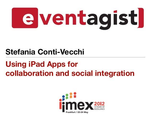 Stefania Conti-VecchiUsing iPad Apps forcollaboration and social integration