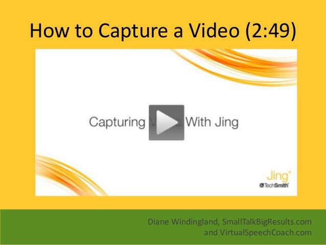 how to create a jing video