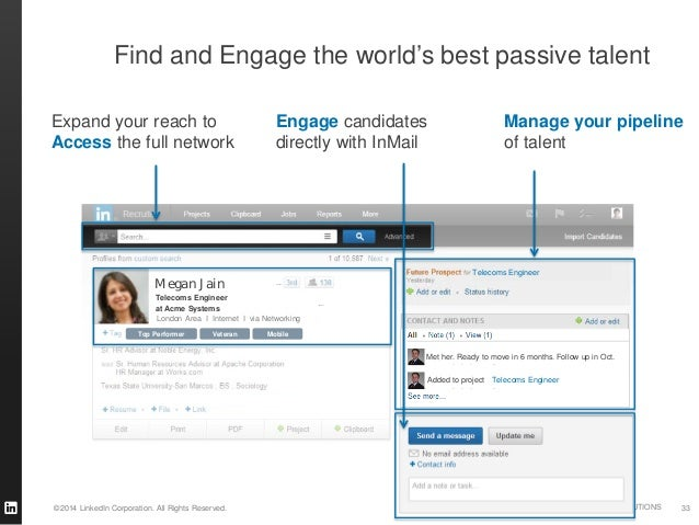 ©2014 LinkedIn Corporation. All Rights Reserved. TALENT SOLUTIONS 806 followers 806 followers Veteran MobileTop Performer ...