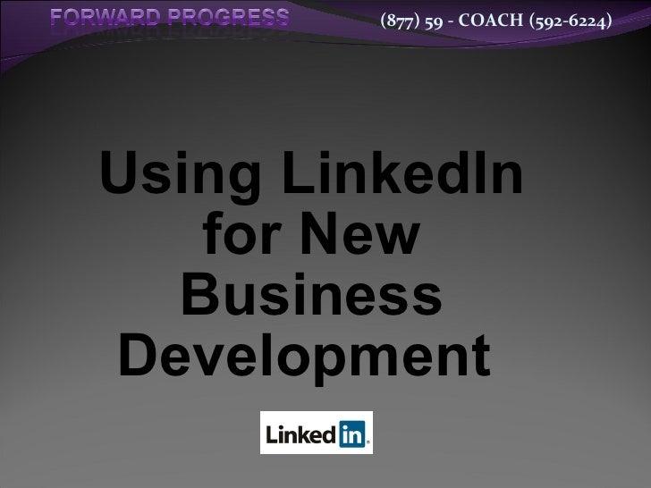 Using LinkedIn for New Business Development