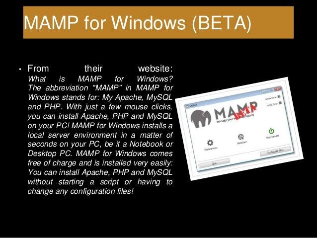 Using MAMP for Web Development
