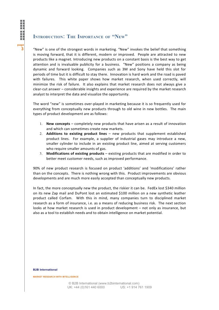White paper using market research for product development