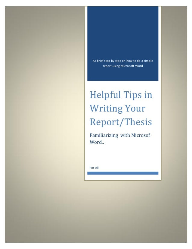 word thesis templates