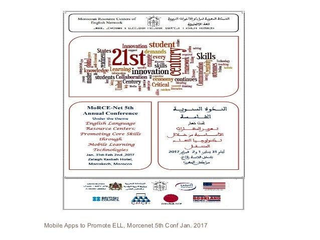Mobile Apps to Promote ELL, Morcenet 5th Conf Jan. 2017