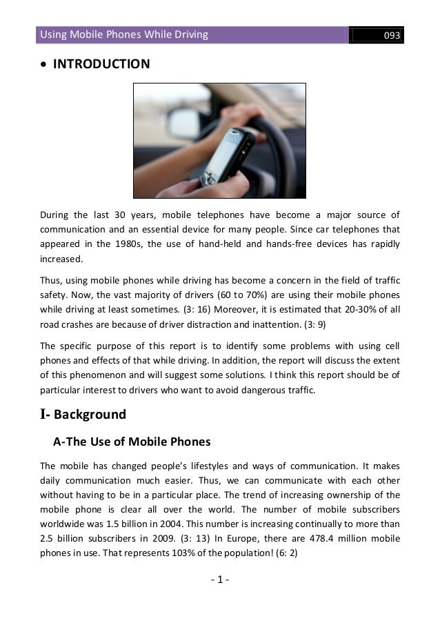 why cell phones should be banned while driving essay