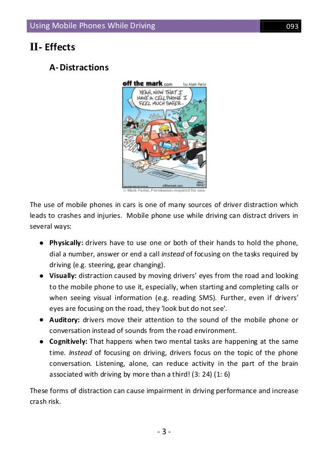 Using a Cell Phone while Driving Essay