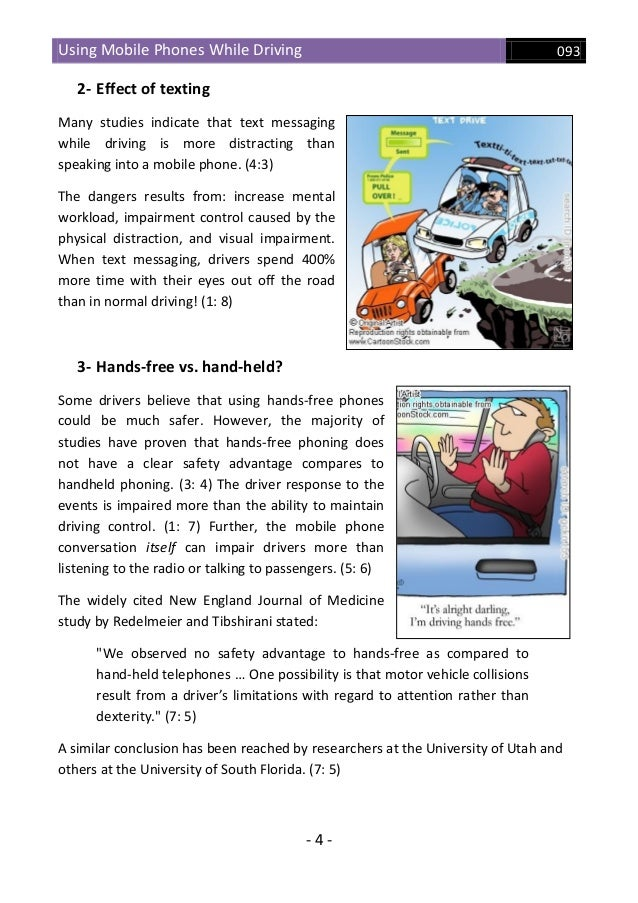 Using mobile phones while driving effects & solutions
