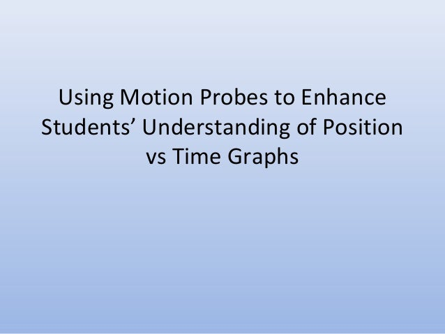 Using Motion Probes to Enhance Students' Understanding of Position vs Time Graphs