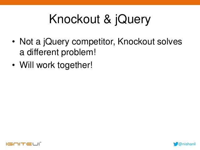 Using mvvm on the web using knockoutjs & ignite ui
