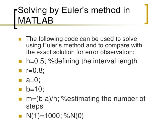 matlab ode Using matlab ode45 to solve di erential equations nasser m abbasi may 30, 2012 page compiled on july 1, 2015 at 11:43am contents 1 download examples source code 1.