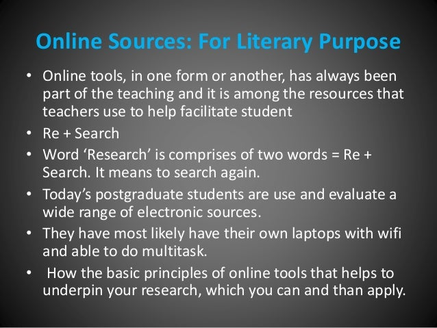 utilizing online sources for research Research and term paper citation introduction and guide learn how and when to cite, types of sources and specific style guides.