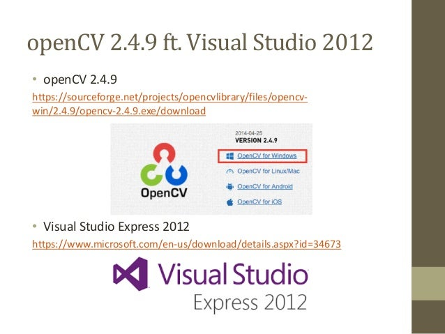 Using open cv 249 with vs2012