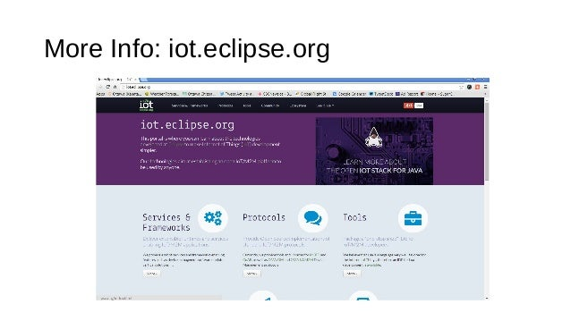 More Info: iot.eclipse.org