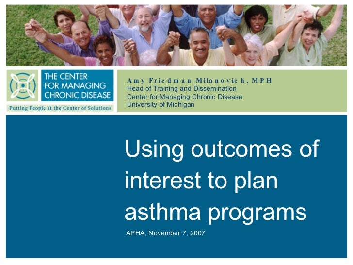 Using outcomes of interest to plan asthma programs