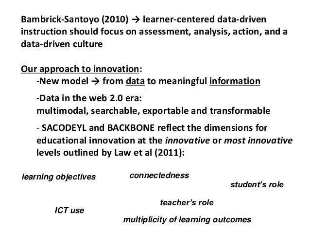 Bambrick-Santoyo (2010) → learner-centered data-driven instruction should focus on assessment, analysis, action, and a dat...