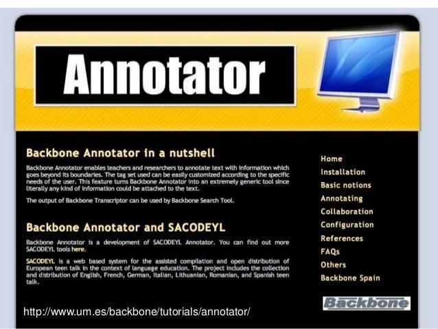 http://www.um.es/backbone/tutorials/annotator/