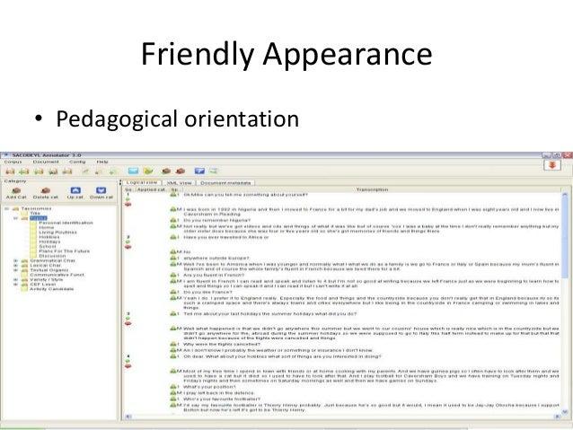 61 Friendly Appearance • Pedagogical orientation