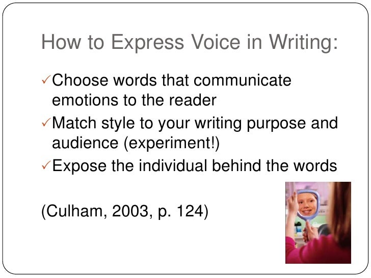 Using personal voice in writing (1)