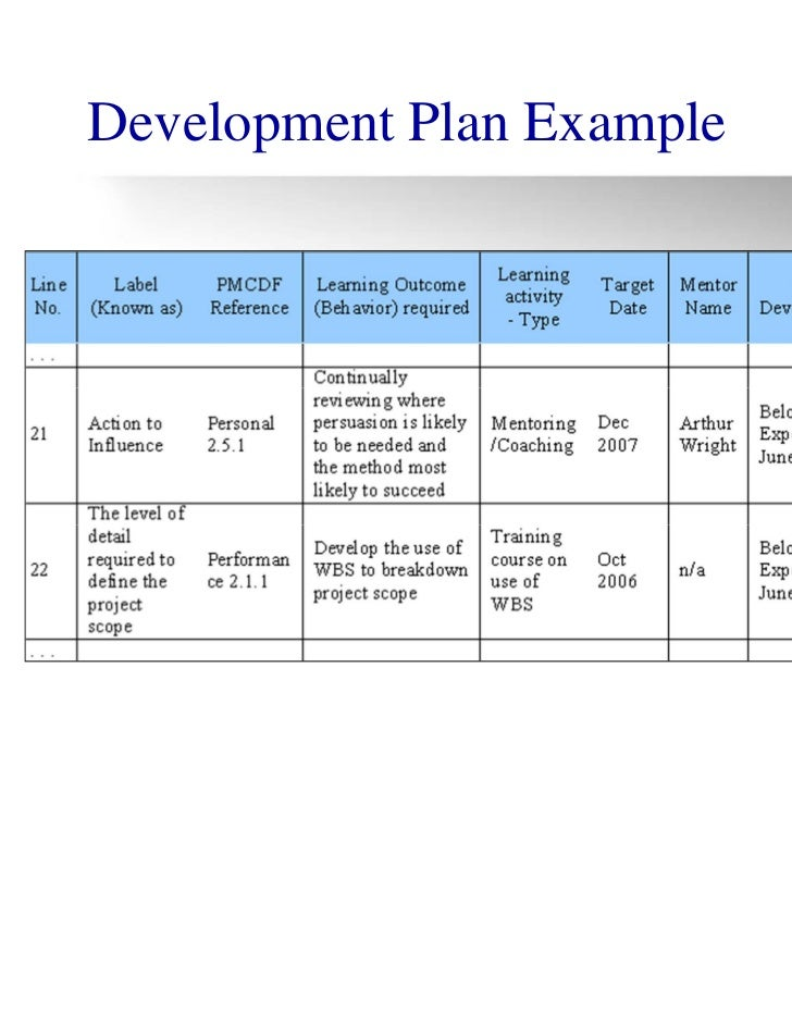 Unusual Professional Development Plan Template Contemporary