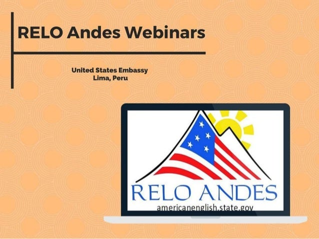 Welcomes to RELO Andes Webinars