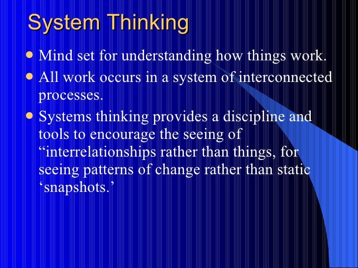 System & Statistical Thinking; 22.
