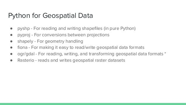Using python to analyze spatial data