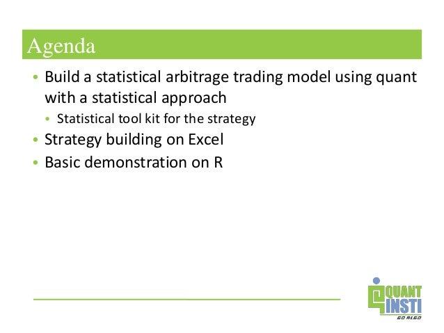 Trading strategies statistical arbitrage