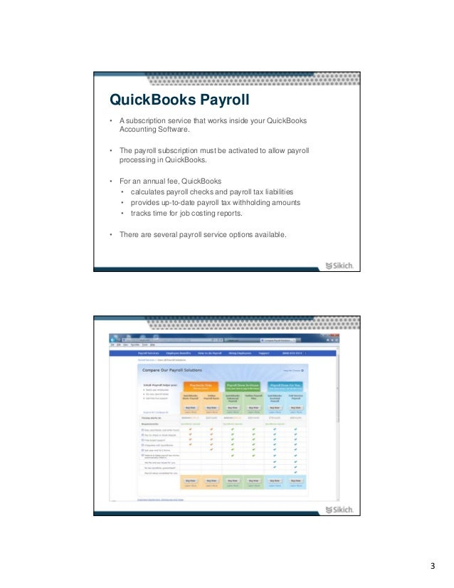 Using QuickBooks for Payroll Processing