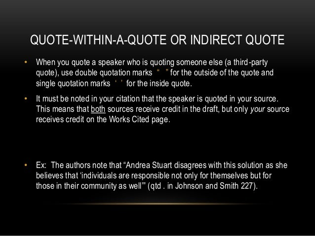 how do you cite a quote within a quote