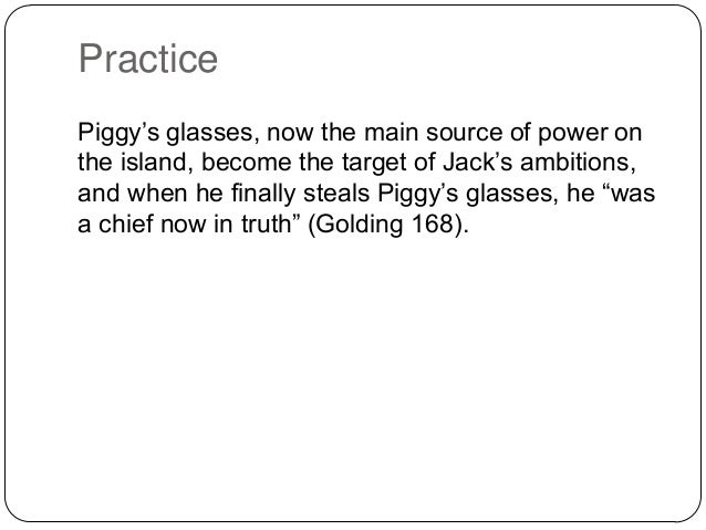 lord of the flies essay piggys glasses