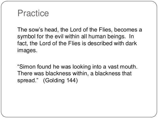 lord o f the flies essays on evil Get free homework help on william golding's lord of the flies: book summary, chapter summary and analysis, quotes, essays, and character analysis courtesy of cliffsnotes.